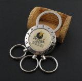 Metallo Keychain con il marchio a resina epossidica della sgocciolatura per la promozione