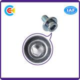 Carbon-Steel DIN/ANSI/BS/JIS/Stainless-Steel нештатное шестиугольное с винтами круглой головки Knurled