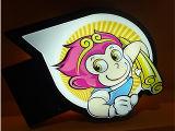 Реклам зеркала индикации СИД коробка напольных волшебных светлая