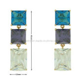 Eardrop di lusso della pietra preziosa dei monili di stile di modo della stella per il partito (KE3220)