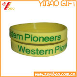 Wristband/bracelete gravados costume do silicone do logotipo para presentes da decoração
