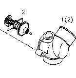 Termostato Diesel para o motor Bfm1013 de Deutz