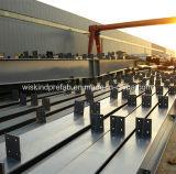 倉庫の鉄骨構造の建物のためのHセクションによって塗られる鋼鉄の梁