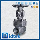 Válvula de puerta empernada manual del casquillo del borde confiable del surtidor de Didtek