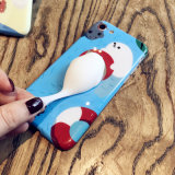 Cubierta suave blanda de la caja del teléfono del gato del silicón 3D para el iPhone 6/7/8
