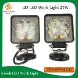 Lampe automatique 27W de travail de 4D DEL 4 pouces pour des entraîneurs