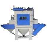 Sistema automático continuo de la voladura de arena del transportador de correa