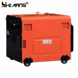 Air-Cooled молчком тип тепловозный цвет комплекта генератора красный (DG5500SE)