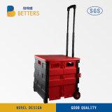 Bester Preis-roter schwarzer guter Plastiksupermarkt-Korb-Speicher/Einkaufen-Laufkatze