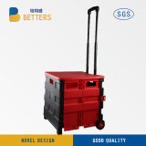 最もよい価格の赤くおよび黒くよいプラスチックスーパーマーケットのバスケットの記憶装置かショッピングトロリー