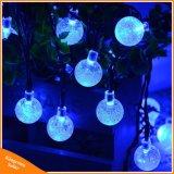 indicatori luminosi solari della stringa della bolla 30LEDs per la decorazione di cerimonia nuziale di natale del giardino