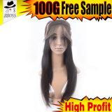 индийский полный парик шнурка 6A целесообразный для женщин