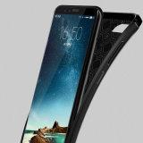 Новая конструкция из углеродного волокна противоударная Litchi шаблон из натуральной кожи мягкая подошва из термопластичного полиуретана для Huawei честь 9 Lite/честь тем 10