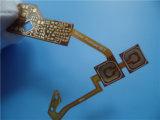 Односторонний полиэстер гибкой печатной платы с белыми Coverlay печатной платы