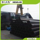 Tubulação 100% preta material do HDPE de Lyondellbasell Crp100 Dn200 Pn10 do Virgin