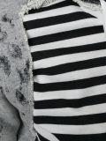 Застежка-молния Hoodies женщин высокого качества с Striped