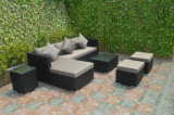 Viro PET Rattan-Garten-Tee-Tisch-Stuhl-gesetztes im Freien