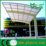 Структура Aluminuim рекламы крыши из поликарбоната навесы парковки (164КПП)