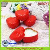 قلب شكل قصدير شمعة مع 100% طبيعيّ صودا شمع