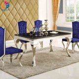 食堂の家具のMordenのガラス上のダイニングテーブルの会議の席