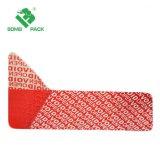 Polyester-vertrauliches Abgeben-Offensichtliches Sicherheits-Garantie-Lücken-Band