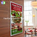 알루미늄 전시 메뉴 널을 광고하는 황급한 LED 가벼운 상자 액자