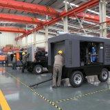 中国の供給オイルの潤滑油ディーゼル携帯用ねじ空気圧縮機