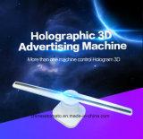 Holograma 3D del ventilador de LED para interiores, la publicidad con la imagen viva y deje a su cliente profunda impresión