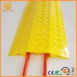 Indoor-Outdoor Portable jaune en plastique protecteur de câble à 2 canaux
