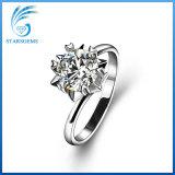 Taglio brillante rotondo Moissanite allentato di stile semplice 925 anelli d'argento