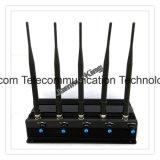 Портативное устройство GPS GPS высокой мощности и мобильного телефона Jammer valve (CDMA GSM DCS ПК 3G) , регулируемый 5 полосы для подавления беспроводной сети 2g+3G + WiFi+4G503/Cpjx перепускной сотового телефона