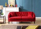 Sofà rosso di Chesterfield di svago della mobilia del salone