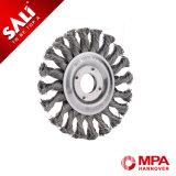 Roue ronde en acier de brosse métallique d'industrie de Sali pour enlever la souillure