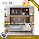 Novo design moderno mobiliário de Quarto Cama de madeira (HX-8NR0884)