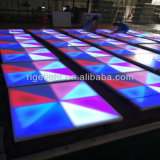 Steuer-RGB-Stadiums-Licht-Acryldeckel LED Dance Floor des Fabrik-Preis-1mx1m billig Digital DMX