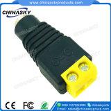 2.1*5.5mm Schakelaar van de Macht van kabeltelevisie de Vrouwelijke met de Gele Terminal van de Schroef (PC101YL)