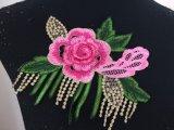 Neuer Entwurf nähen auf Stickerei-Blumen-Änderungen am Objektprogramm für Kleidung