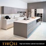 Kundenspezifische moderne glatte weiße Möbel der Küche-2018 mit Stoss-offenen Türen TV-0041