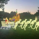 Het openlucht Commerciële Decoratieve LEIDENE van de Kunst van Kerstmis Licht van het Rendier