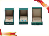 Rectángulos de joyería de papel de lujo del collar del pendiente de las cajas de embalaje de la joyería