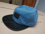 平らな革縁が付いているカスタムジーンのデニム5のパネルの帽子
