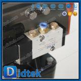 Acero inoxidable Didtek actuador neumático Válvula de bola flotante