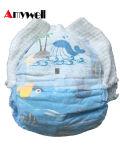 OEMのカスタム使い捨て可能な綿の漏出監視通気性の眠い赤ん坊のおむつ