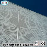 Decorativa brillante hoja de metal perforado