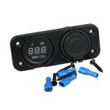 12V 24V 2.1A Universal Veículo Aluguer Voltímetro carregador USB Dual Port carregador automático com Medidor de Tensão do Painel de tomada do adaptador de energia