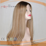 La parte superior de la Seda Cabello brasileño judío extensible peluca (PPG-L-01463)