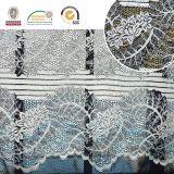 Reticolo floreale bianco e merletto molle, elegante per la cerimonia nuziale o Dressln10045 quotidiano