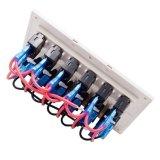 Painel do interruptor do disjuntor do balancim de 6 grupos com indicador do diodo emissor de luz