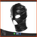 4 Stuk speelgoed van het Product van het Geslacht van de Kap van de Slaaf van het Oog van de Mond van Bdsm van de Amulet van het Masker van het leer het Zwarte
