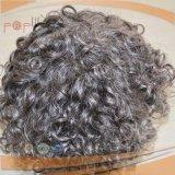 インドの灰色カラー毛の完全なレースの人のToupee (PPG-l-01478)